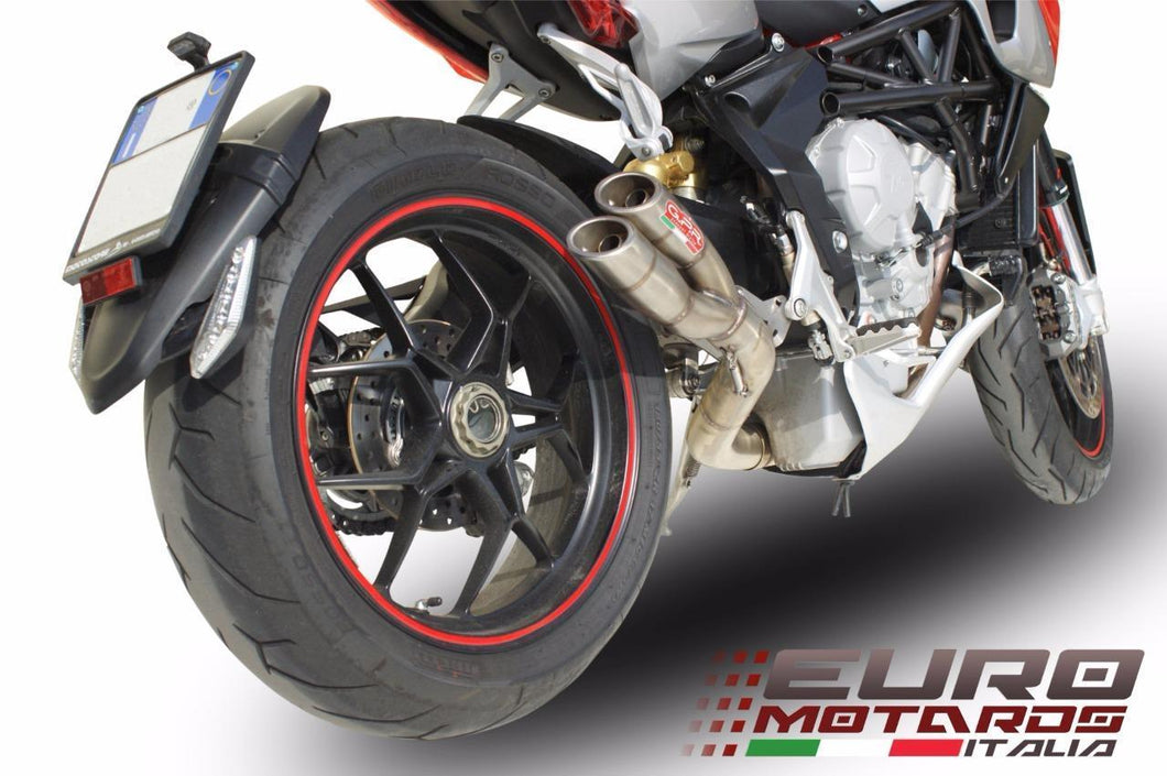 MV Agusta Rivale 800 2014-2016 GPR Exhaust Slip-On Silencer Thunder Slash New