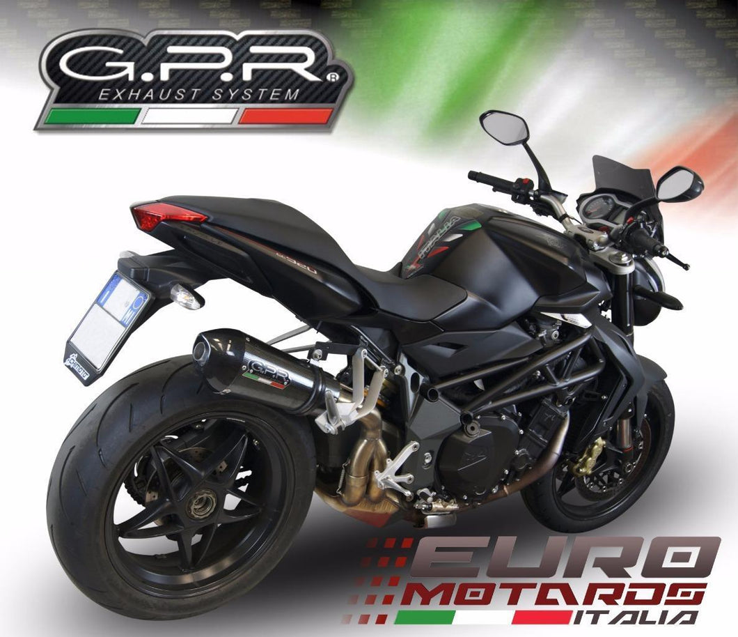 MV Agusta Brutale 920 2010-11 GPR Exhaust GPE CF Carbon Look Silencer Road Legal