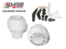 Load image into Gallery viewer, Suzuki GSXS 1000 2014-2019 RD Moto Crash Frame Sliders White S47-PH01-W 2 Points