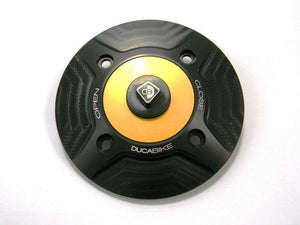Ducabike Billet Carbon Gas Cap Gold Ducati 1199 Panigale Streetfighter 848 1100