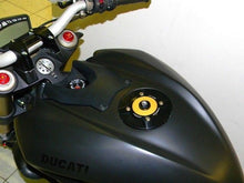 Load image into Gallery viewer, Ducabike Billet Carbon Gas Cap Gold Ducati 1199 Panigale Streetfighter 848 1100
