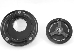 Ducabike Billet Carbon Gas Cap Black Ducati 848 1098 1198 Supersport Monster <09