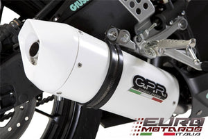 Ducati Monster 600-900 01-03 High Mount GPR Exhaust Dual Albus White Silencers