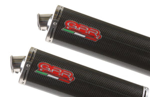 Aprilia Caponord 1000 01-07 GPR Exhaust Systems Carbon Oval Slipon Mufflers