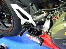 Load image into Gallery viewer, Ducabike Adjustable Rearsets Black Ducati 899 1199 Panigale + Reverse Shifting