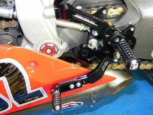 Ducabike Adjustable Rearsets Black Ducati 899 1199 Panigale + Reverse Shifting