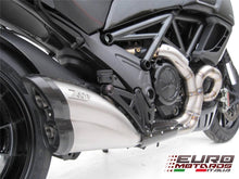 Load image into Gallery viewer, Ducati Diavel 2011-2016 Zard Exhaust Steel Silencer Carbon Cap Road Legal