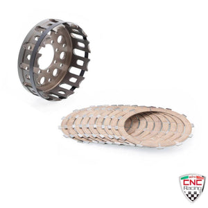 CNC Racing Clutch Basket & Plates Ducati ST2 ST3 ST4 996 998 999 Supersport 1000