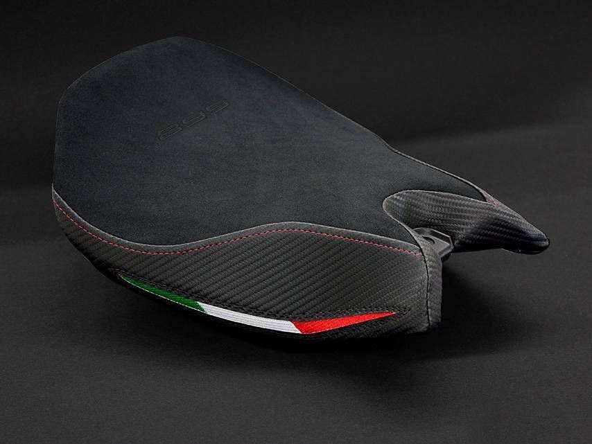 Ducati 899 Panigale Luimoto Italia Suede Seat Cover Black Fit Comfort Seat Only