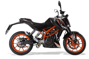 KTM Duke 390 2013-2014 GPR Exhaust Systems Powercone Slipon Homolog Underengine