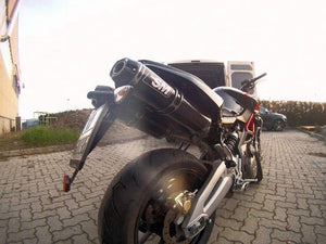 Aprilia Shiver SL 750 Silmotor Italia Exhaust Mid System With Carbon Silencers