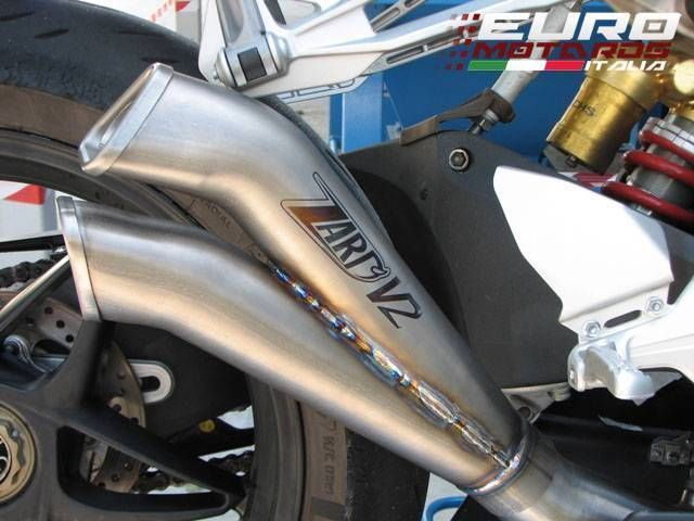BMW S1000RR Zard Exhaust V2 Racing Steel Silencer Muffler