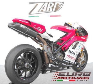 Ducati 1198 SBK Zard Exhaust 70mm Full System & Penta-Evo Carbon Silencers +8HP