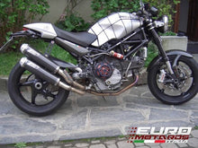 Load image into Gallery viewer, Ducati Monster S4RS Testastretta Zard Exhaust CF Silencers Overlapped +2.5HP