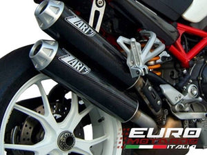 Ducati Monster S4RS Testastretta Zard Exhaust CF Silencers Overlapped +2.5HP
