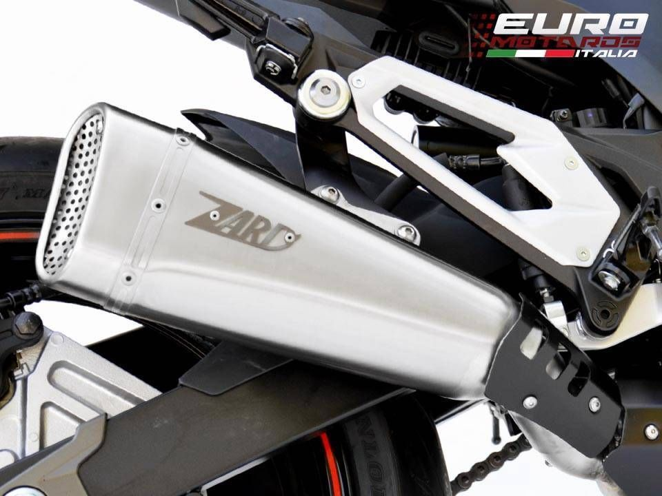 Kawasaki Z800 2013-2016 Zard Exhaust Stainless Steel Racing Silencer