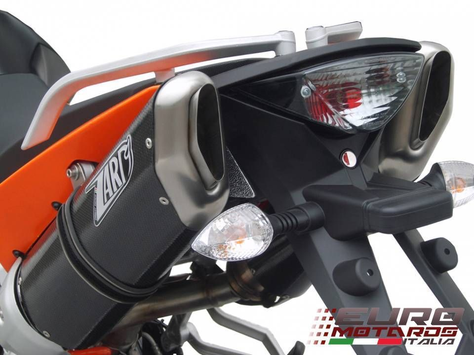 KTM 950 SM / 990 SM SMT Zard Exhaust 2 Penta Carbon Racing Slipon Silencers