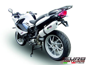 Ducati ST3 1000 2004-2007 GPR Exhaust Systems Dual Albus White Silencers
