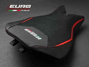Ducati 1199 Panigale Luimoto Veloce Tec-Grip Suede Seat Cover For Rider New