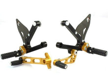 Load image into Gallery viewer, Ducabike Adjustable Rearsets Black/Gold Ducati Sport Classic 1000 Supersport 00>