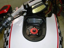 Load image into Gallery viewer, Ducabike Billet Carbon Gas Cap Red Ducati Diavel Monster 696 796 1100