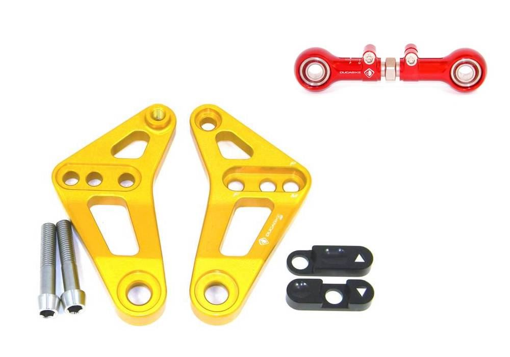 Ducati 899 1199 Panigale Ducabike Adjustable Height Suspension Rear Link Gold