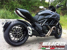 Load image into Gallery viewer, Ducati Diavel 2011-2016 Zard Exhaust Steel Silencer Black Muffler Road Legal