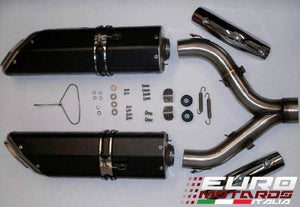 Aprilia Shiver 750 Zard Exhaust Penta Black Ceramic Silencers Road Legal