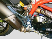 Load image into Gallery viewer, Ducabike Billet Adjustable Rearsets Rider Silvr Ducati Hypermotard SP 821 Strada