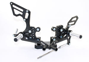 Suzuki GSXR 750 2000-2005 ARP Adjustable Rearsets RSS04 Standard & Reverse Shift