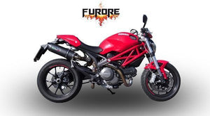 Ducati Monster 1100 2009-2010 GPR Exhaust Systems Furore Dual Slipon Silencers