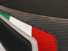 Load image into Gallery viewer, Aprilia RSV4 RSV-4 2009-2019 Luimoto Team Italia Suede Rider Seat Cover 2 Color2
