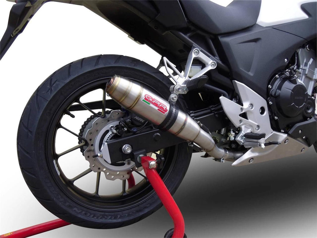 Honda CB 500X 2013-2015 GPR Exhaust Systems Deeptone Slipon Muffler Silencer Can