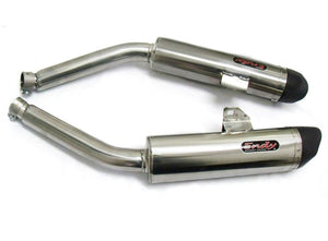 Aprilia RSV 1000 Factory 2004-2008 Endy Exhaust Dual Silencers XR-3 Slip-On