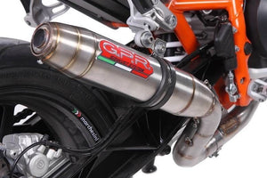 KTM Duke 690 2012-2016 GPR Exhaust Systems Deeptone Catalyzed Mid System Muffler