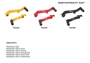 Ducati Multistrada 1200 Touring/Sport/Pikes 2010-2014 CNC Racing Easy Footpegs