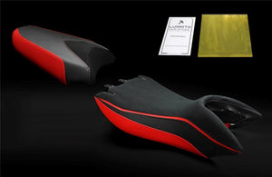 Aprilia Mana 850 GT 2008-2015 Luimoto Suede Seat Covers Front & Rear 5 Colors