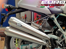 Load image into Gallery viewer, Ducati Sport Classic 1000 Silmotor Exhaust Dual Megaphone Slipon Silencers