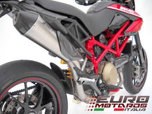 Load image into Gallery viewer, Ducati Hypermotard 796 Zard Exhaust Scudo Full 2>1 System Titanium/Carbon Cap