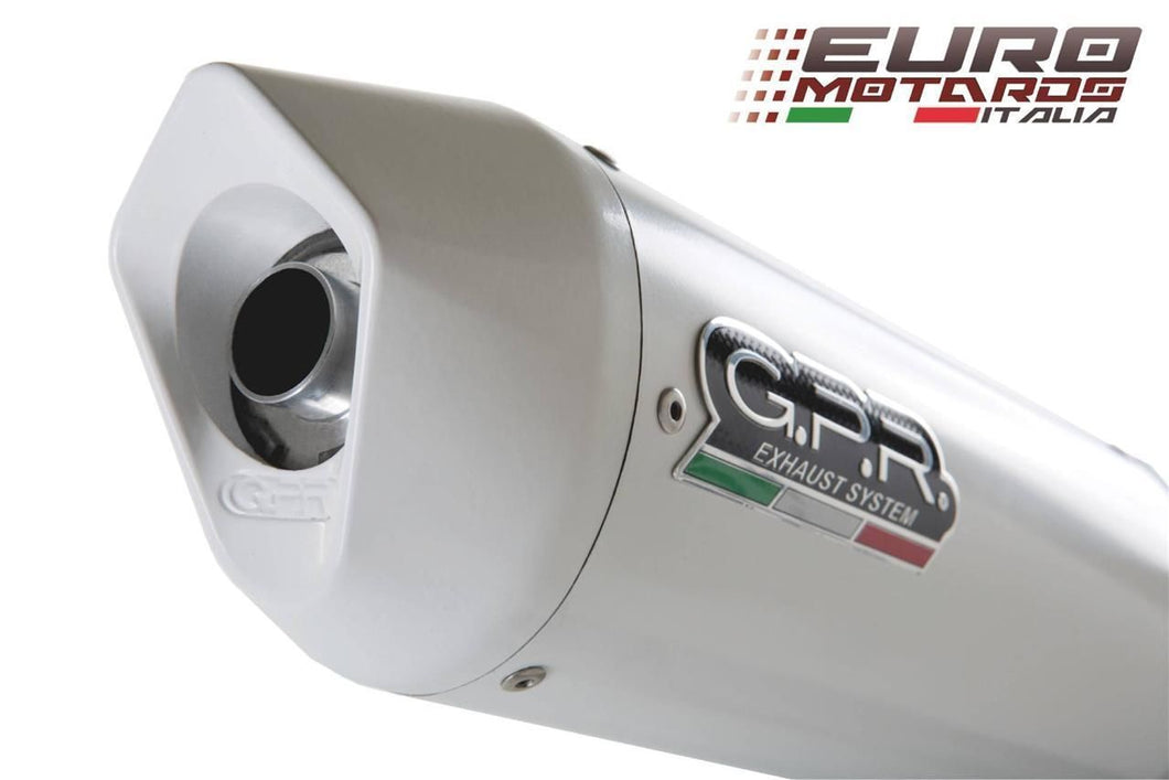 Suzuki GSR 750 2011-2015 GPR Exhaust Systems Albus White Slipon Silencer