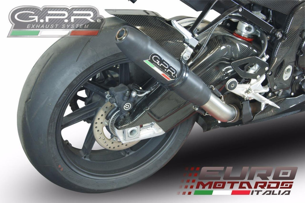 BMW S1000RR 2015 GPR Exhaust Systems Deeptone Nero Silencer Racing