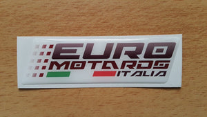 Euro Motards Gel Dome Sticker Red For Fairings ZX6 ZX10R Ninja 300R CBR 600RR