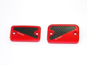 Ducabike Brake & Clutch Caps Red Ducati Hypermotard 796 Monster 695 696 S2R 800