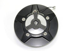 Load image into Gallery viewer, Ducabike Billet Carbon Gas Cap Black/Silver Ducati Diavel Monster 696 796 1100