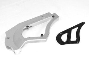 Ducabike Billet/Carbon Sprocket Cover Silver Ducati Hypermotard 821 SP/Strada