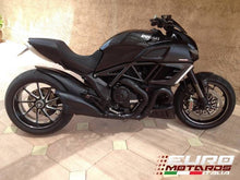 Load image into Gallery viewer, Ducati Diavel 2011-2016 Zard Exhaust Silencer Black/Black Cap Muffler Road Legal