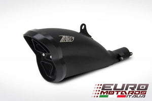 Ducati Diavel 2011-2016 Zard Exhaust Silencer Black/Black Cap Muffler Road Legal