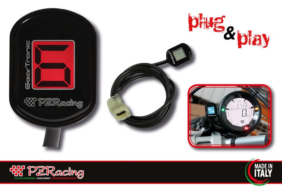 Suzuki GSXR 600 750 2004-2005 PZRacing Zero Plug&Play LCD Gear Indicator New