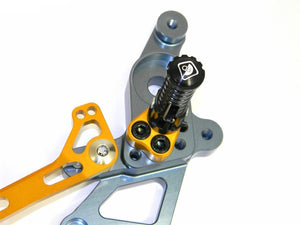Ducabike Billet Adjustable Rearsets Rider Gold Ducati Hypermotard SP 821 Strada