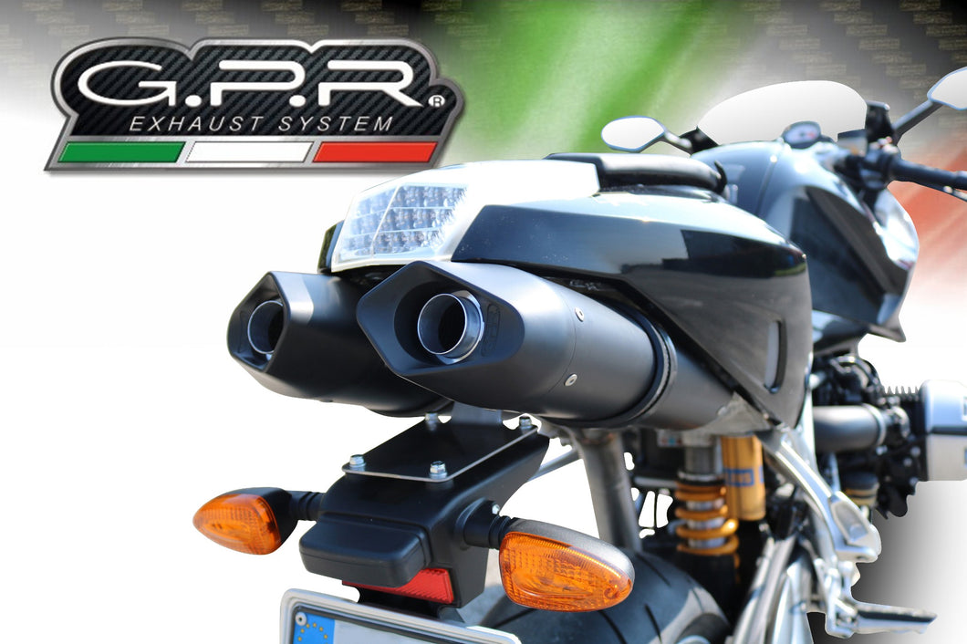 BMW R 1200 S 2006-2008 GPR Exhaust Systems Furore Black Dual SlipOn Mufflers New